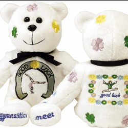 GOOD LUCK EMBROIDERED CUB CLUB BEANIE GYMNASTICS BEAR