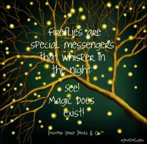 Fireflies and magic quote via www.Facebook.com/PrincessSassyPantsCo # ...