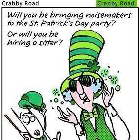 St. Patrick's Day-Crabby Road cartoon Funny Shit, Comics Book, Funny ...