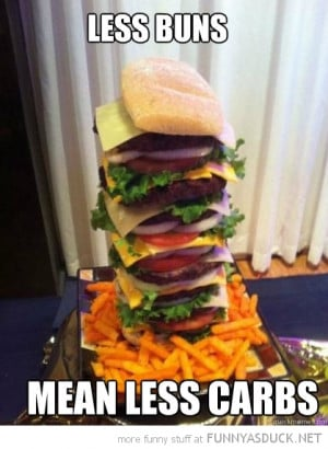 huge burger less buns carbs funny pics pictures pic picture image ...
