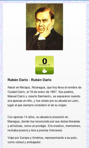 View bigger - Ruben Dario Poems and Quotes for Android screenshot