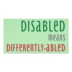 Disability Awareness Poster More