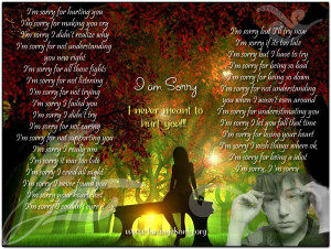 Sorry and please forgive me quotes and sms