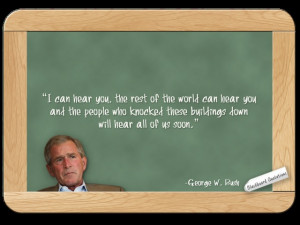 George W Bush... on 9-11