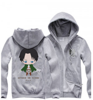 Attack on Titan Hoodie Levi by YayaHancosplay1