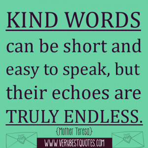 Kind words picture quote (Kindness Quotes)