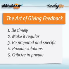 good leader must possess is the art of giving and receiving feedback ...