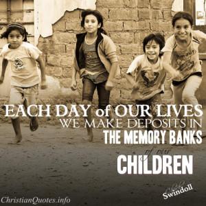 Chuck Swindoll Quote – Our Children