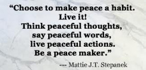 Be a #peacemaker
