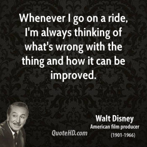 Whenever I go on a ride, I'm always thinking of what's wrong with the ...