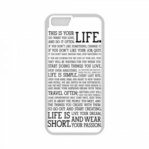 Life Quotes About Passion Typograph apple iphone 6 case cover