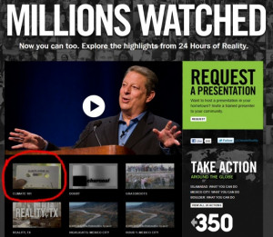 Al Gore's Climate Reality Project Fabricated Their Climate 101 Video ...