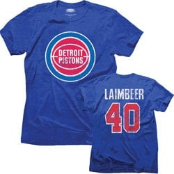 Bill Laimbeer Detroit Pistons Majestic Threads Tri-Blend Hardwood ...