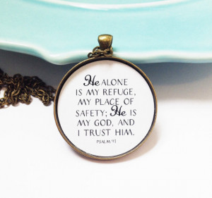 Psalm 91 Necklace, Christian Necklace, Bible Verse Necklace,Scripture ...