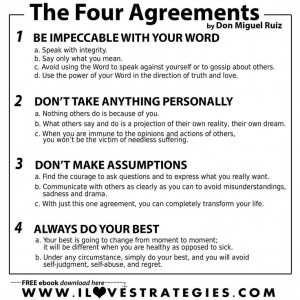 The Four Agreements is a book I would recommend with anyone struggling ...