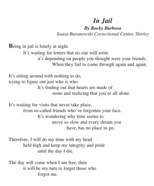 Poem Jail Love, In Jail Poems Jpg 799 966, Quotes 3, Jail Quotes ...