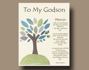 Gift for Godson - Per sonalized gift for Godson - Gift from Godmother ...