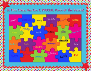 In This Class, You Are A SPECIAL Piece Of The Puzzle!