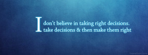 Decision Quotes Facebook Timeline Cover