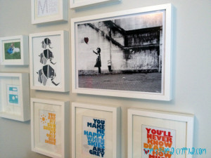 Gallery Wall with White Frames - Project Nursery