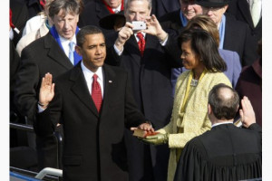 Barack Obama Inauguration Speech 2009 Barack obama takes the oath of