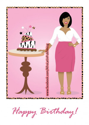 Happy Birthday- Beautiful African American (black) Woman wearing pink ...