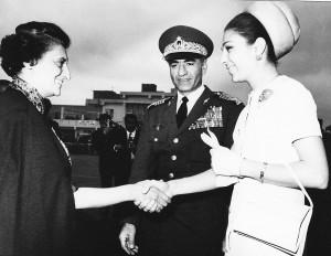 Schah Mohammad Reza Pahlavi, Schahbanu Farah Pahlavi, Premierminister ...