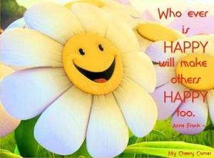 Happy quote via My Cheery Corner page on Facebook