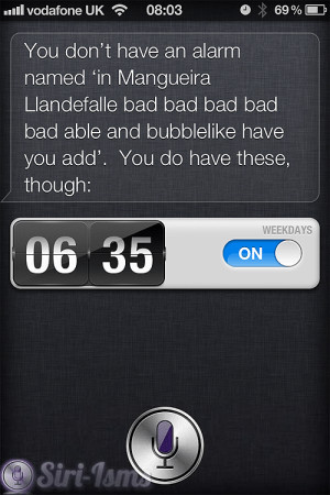You Don't Have An Alarm... ~ Funny Siri Sayings