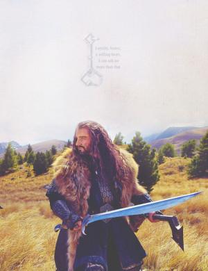 Thorin Oakenshield | favorite quote [so far]