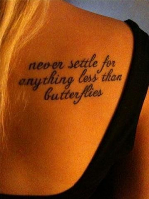 butterflies, love, quote, satc, tattoo, words