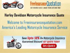 Harley Davidson Motorcycle Insurance Quote