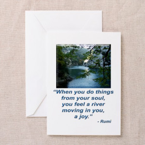 ... Greeting Cards > RUMI JOY QUOTE Greeting Cards (Pk of 10