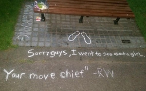 Fans have been leaving flowers and scrawling quotes from some his most ...