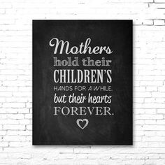 ... and CHILDREN Quote PRINTABLE Artwork - Chalkboard | Mother's Day Gift