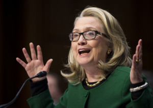 Clinton testifies during the Senate Foreign Relations Committee ...