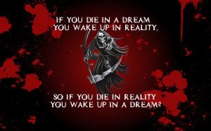 Death blood grim reaper scythe die dreams reality sleeping time ...