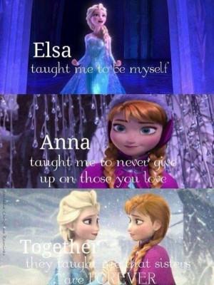 elsa #anna #sisters #frozen #disney