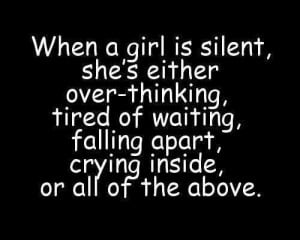 Girl Silent Love Quote