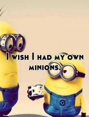 Wish I Had My Own Minions - Funny pictures