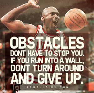 Michael Jordan Obstacles Quote Picture