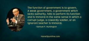 Samuel P. Huntington Quote