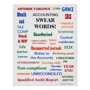 ACCOUNTING SWEAR WORDS ! POSTERS