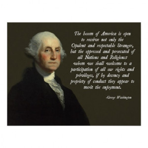George Washington Immigration Quote Print