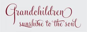 Catalog > Grandchildren Sunshine to the Soul, Family Wall Art Decal