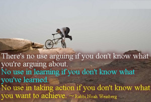 Excellent Quote by Rabbi Noah Weinberg