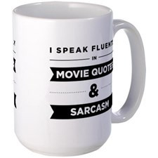 Movie Quotes And Sarcasm Large Mug for