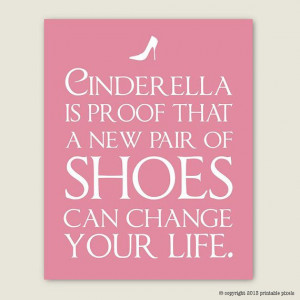 Cinderella Is Proof - Funny Quote Art Printable - Instant Download