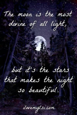 Quotes About The Moon And Stars. QuotesGram