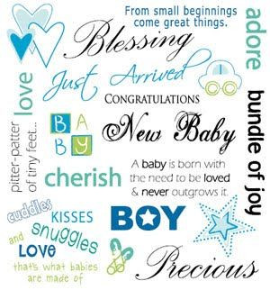 quotes for baby arrival baby boy | Kaisercraft Basic Rub-ons - New ...